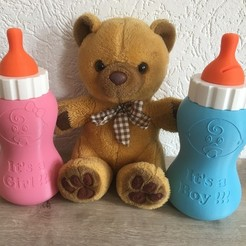 Free 3D printer files Baby Bottle Piggy Bank V2, Bishop