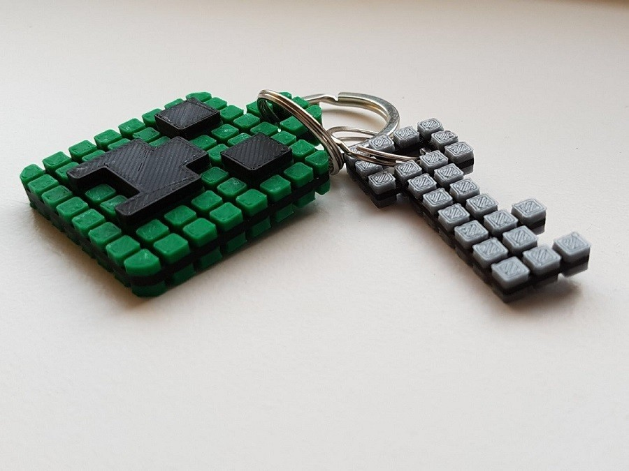 Keychain 4.jpg Download free STL file Minecraft Creeper Keychain (single extruder) • 3D printing object, Bishop