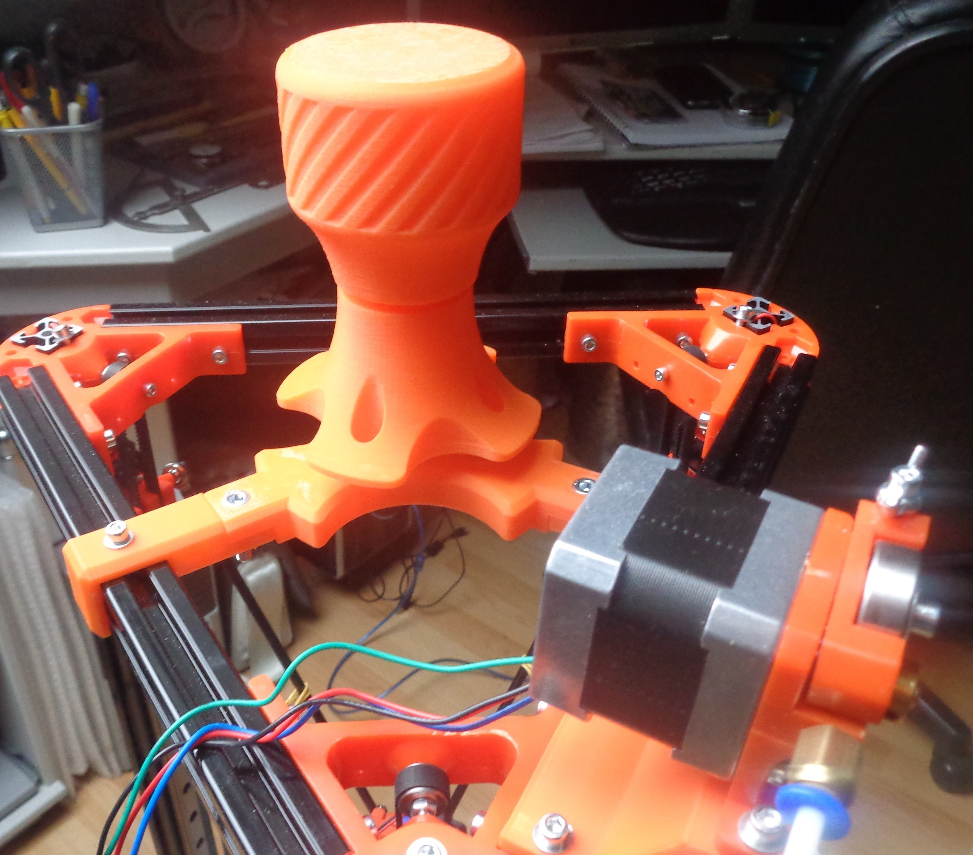 Spoolholder 1.jpg Download free STL file Mini Kossel Delta 3D Printer Spoolholder • Template to 3D print, Bishop