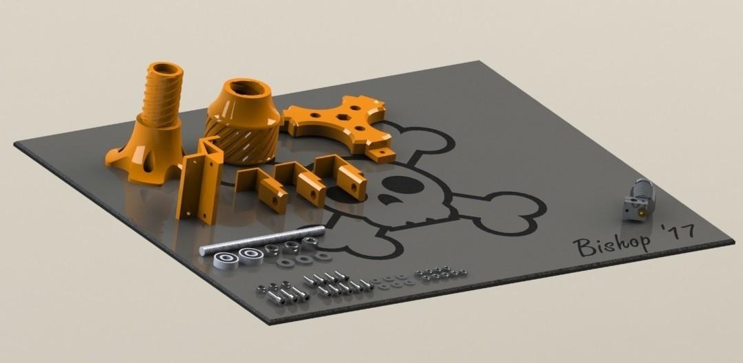 Spoolholder SW 1.jpg Download free STL file Mini Kossel Delta 3D Printer Spoolholder • Template to 3D print, Bishop