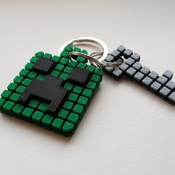 Free STL Minecraft Creeper Keychain (single extruder), Bishop