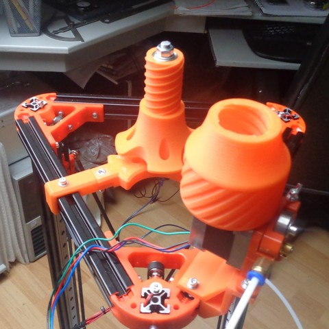 Spoolholder 2.jpg Download free STL file Mini Kossel Delta 3D Printer Spoolholder • Template to 3D print, Bishop