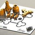Spoolholder SW 2.jpg Download free STL file Mini Kossel Delta 3D Printer Spoolholder • Template to 3D print, Bishop