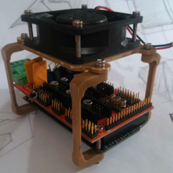 Free 3D printer designs Ramps 1.4 Fan Mount - 1 hour print, BAYA