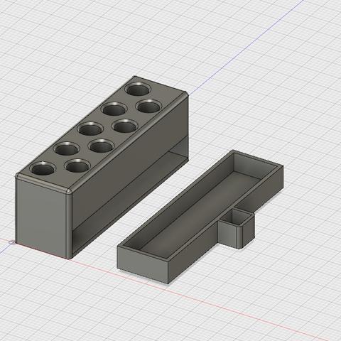 Download free STL file Dremel collets holder • 3D printer model, krug3r