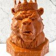 Download 3D printer files The Bear King, SADDEXdesign