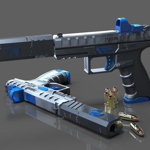 Plan imprimante 3D gatuit Pistolet Berreta sur mesure, SADDEXdesign