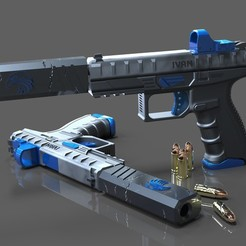 Free STL files Custom Berreta Pistol, SADDEXdesign