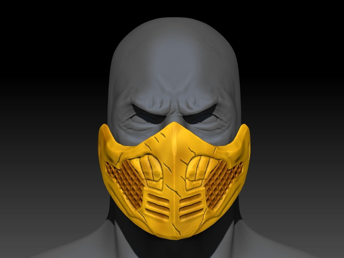 Download Free 3d Printer Files Mortal Kombat Scorpion Mask Cults