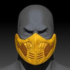 Descargar STL gratis Máscara de Escorpión de Mortal Kombat, SADDEXdesign