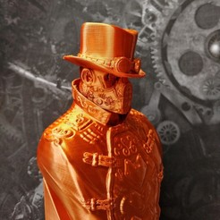 Download 3D printing files Steampunk Bust, SADDEXdesign