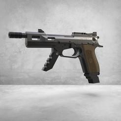 Télécharger plan imprimante 3D Pistolet COD Black Ops IV RK 7 Garrison Pistol, SADDEXdesign