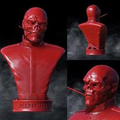 Download 3D model The Red Skull Marvel, SADDEXdesign