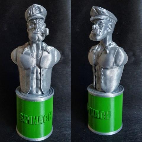 Download free 3D printer designs Popeye The Sailor Man, SADDEXdesign