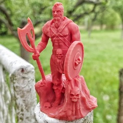 Download free 3D printer templates Viking Barbarian Sculpture, SADDEXdesign