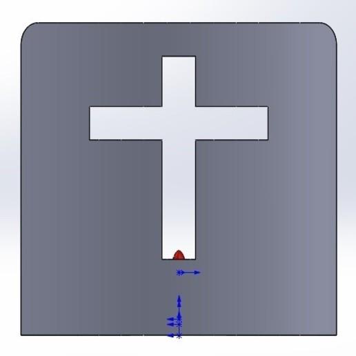 frente.jpg Download free STL file Cross Candle Holder • 3D print object, memoretirado