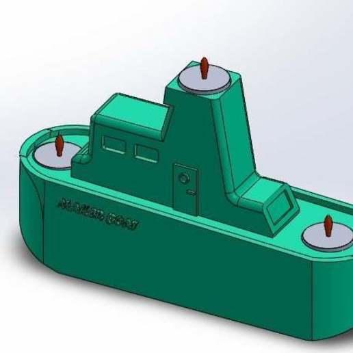 con_velitas_prendidas.jpg Download free STL file Maker Boat Candle Holder • 3D printer template, memoretirado
