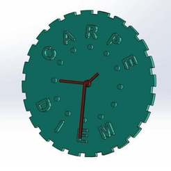 Download free STL file Carpe Diem Wall Clock (take advantage of the time) • 3D printable design, memoretirado