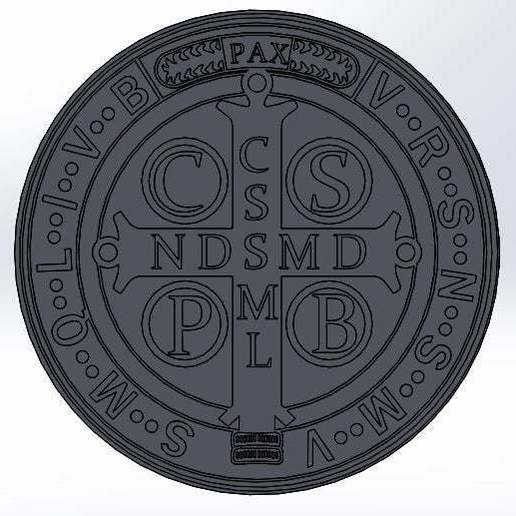 San_benito.jpg Download free STL file Medal of Saint Benedict (Saint Benedict's Cross) • 3D printable model, memoretirado
