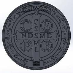 Download free STL file Medal of Saint Benedict (Saint Benedict's Cross) • 3D printable model, memoretirado