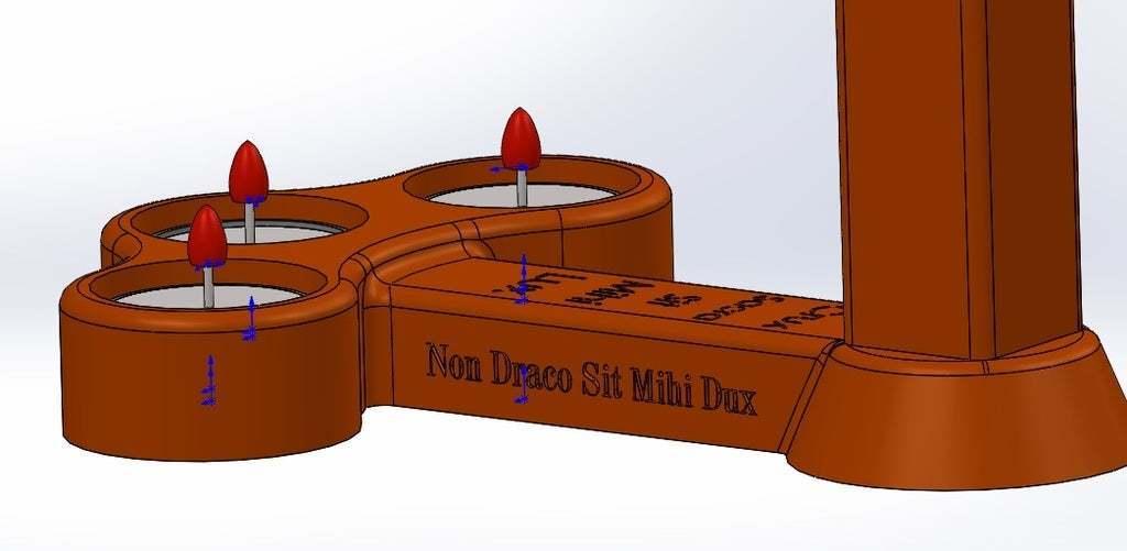 non.jpg Download free STL file Cross candle holder • Object to 3D print, memoretirado