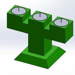 trime.jpg Download free STL file 3 Candle Holder Tea Light • Template to 3D print, memoretirado