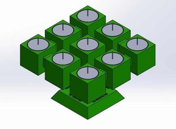 "pos 1.jpg Download free STL file Chandelier ""Prometeo"" REversible • 3D printable template, memoretirado"