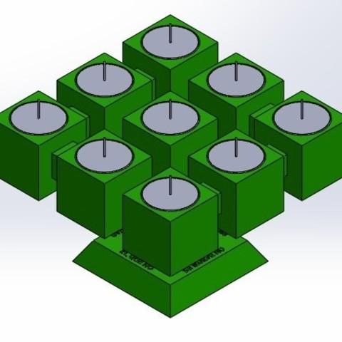 """pos 1.jpg Télécharger fichier STL gratuit Candélabre """"Prometheus"""" Réversible • Modèle imprimable en 3D, memoretirado"""
