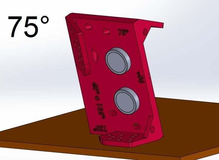 75.jpg Download free STL file Mounting for HC SR04 Multi-Angle (40°,90°,140°,45°,135°,105°,120°, 75° and 60°) • 3D printer object, memoretirado