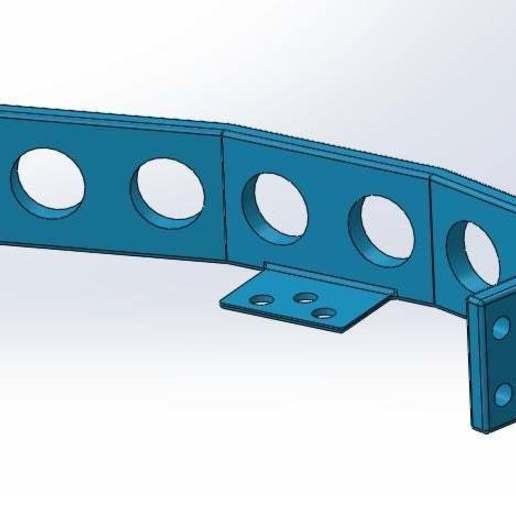 2.jpg Download free STL file Mounting for 3 HC SR04 15° sensors with 90° terminals • 3D printer design, memoretirado