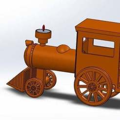 Download free STL file Train Candle Holder • 3D printable model, memoretirado