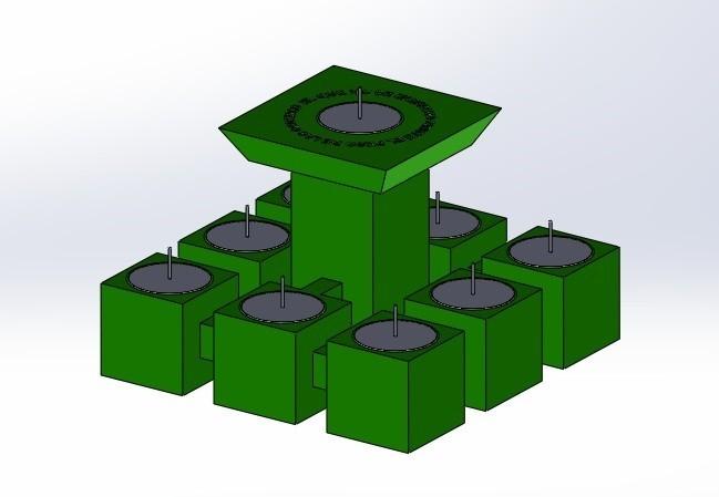 "pos 2.jpg Download free STL file Chandelier ""Prometeo"" REversible • 3D printable template, memoretirado"