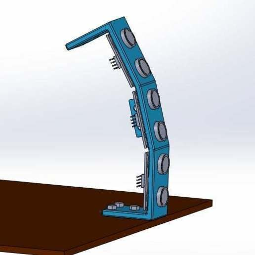 vertical.jpg Download free STL file Mounting for 3 HC SR04 15° sensors with 90° terminals • 3D printer design, memoretirado