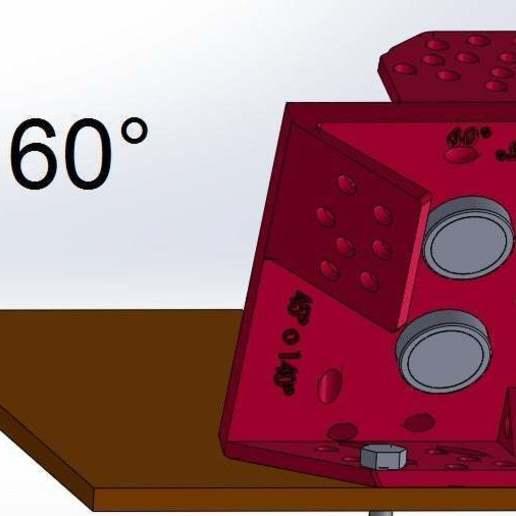 60.jpg Download free STL file Mounting for HC SR04 Multi-Angle (40°,90°,140°,45°,135°,105°,120°, 75° and 60°) • 3D printer object, memoretirado