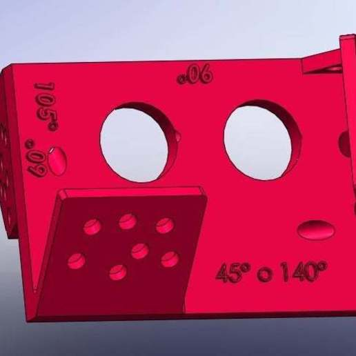 1.jpg Download free STL file Mounting for HC SR04 Multi-Angle (40°,90°,140°,45°,135°,105°,120°, 75° and 60°) • 3D printer object, memoretirado