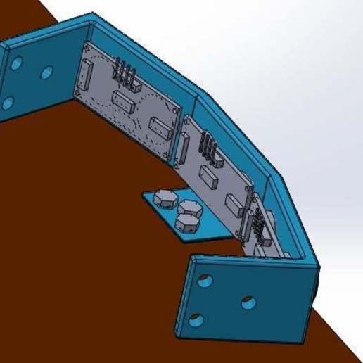 fijado_horizontalmente.jpg Download free STL file Mounting for 3 HC SR04 15° sensors with 90° terminals • 3D printer design, memoretirado