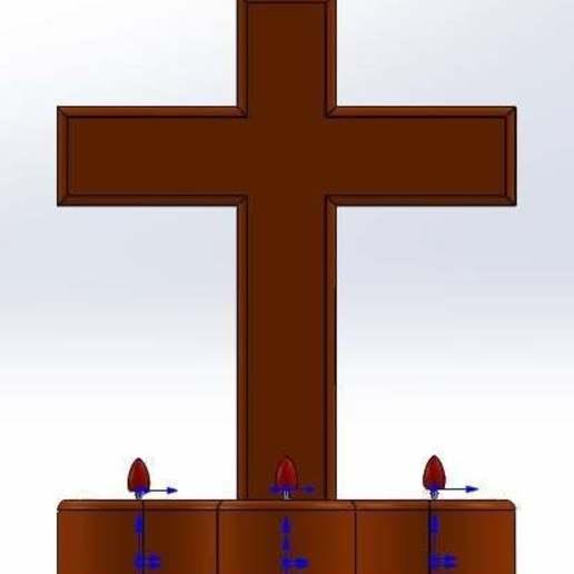 frente.jpg Download free STL file Cross candle holder • Object to 3D print, memoretirado