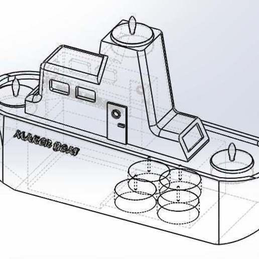 alambrico.jpg Download free STL file Maker Boat Candle Holder • 3D printer template, memoretirado