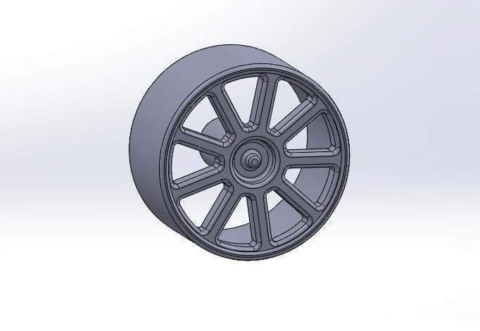 rueda_lisa.jpg Download free STL file Smooth Wheel for Motor Reducer • 3D printable template, memoretirado
