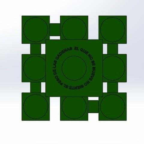 "inf sin velas.jpg Download free STL file Chandelier ""Prometeo"" REversible • 3D printable template, memoretirado"