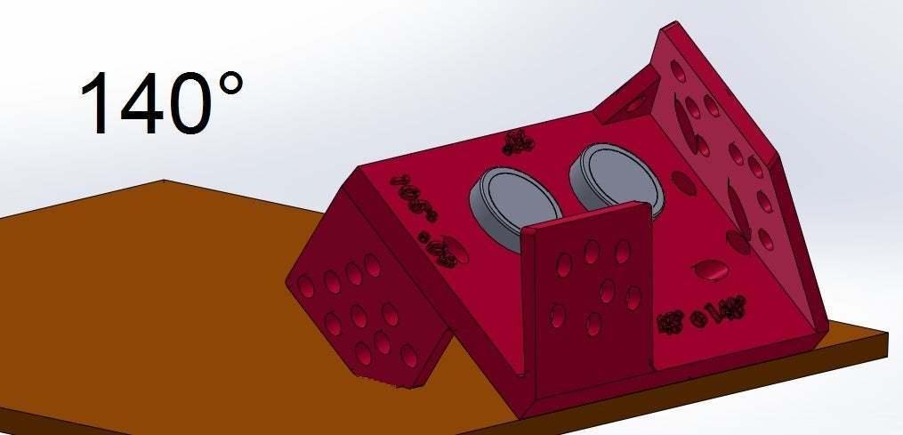 140.jpg Download free STL file Mounting for HC SR04 Multi-Angle (40°,90°,140°,45°,135°,105°,120°, 75° and 60°) • 3D printer object, memoretirado
