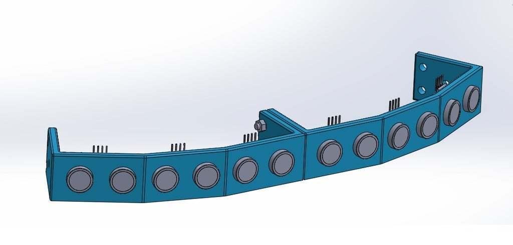 union_hacia_el_lado_convexo.jpg Download free STL file Mounting for 3 HC SR04 15° sensors with 90° terminals • 3D printer design, memoretirado