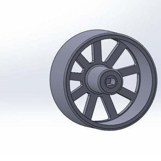rueda_lisa_por_atrás.jpg Download free STL file Smooth Wheel for Motor Reducer • 3D printable template, memoretirado