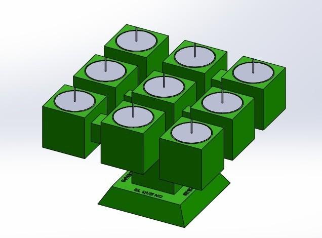 """pos 1 3.jpg Télécharger fichier STL gratuit Candélabre """"Prometheus"""" Réversible • Modèle imprimable en 3D, memoretirado"""