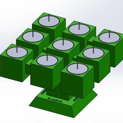 "pos 1 3.jpg Download free STL file Chandelier ""Prometeo"" REversible • 3D printable template, memoretirado"