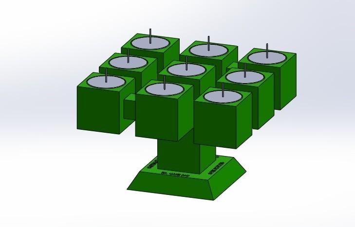 """pos 1 2.jpg Télécharger fichier STL gratuit Candélabre """"Prometheus"""" Réversible • Modèle imprimable en 3D, memoretirado"""