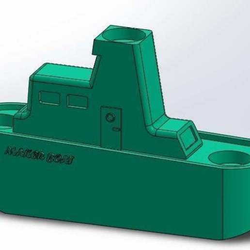 2.jpg Download free STL file Maker Boat Candle Holder • 3D printer template, memoretirado