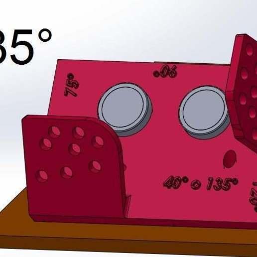 135.jpg Download free STL file Mounting for HC SR04 Multi-Angle (40°,90°,140°,45°,135°,105°,120°, 75° and 60°) • 3D printer object, memoretirado