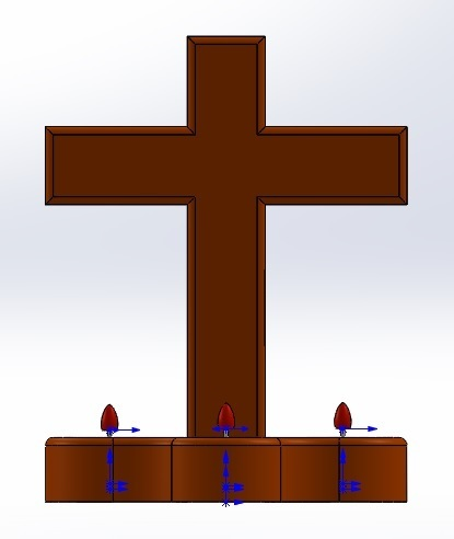 frente.jpg Download free STL file Cross candle holder, three-candlestick candlestick • 3D printing model, memoretirado