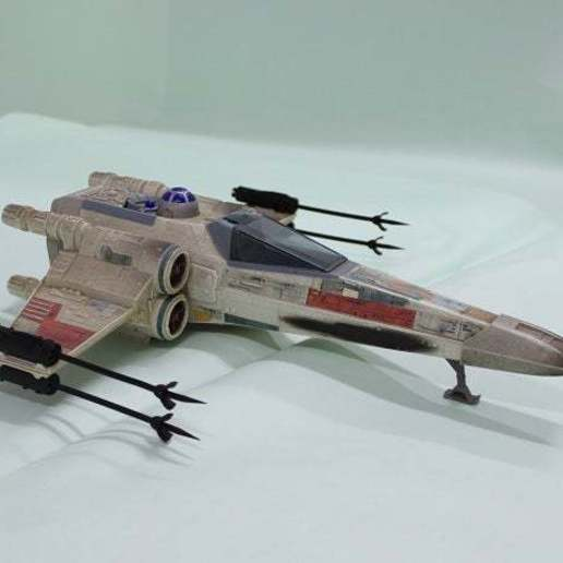 Download free STL file X Wing Fighter Cannon 1995 Tonka Star Wars Ship • Object to 3D print, memoretirado